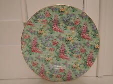 "Vintage Empire Ware Chintz lilac Time 9"" Dinner Plate"