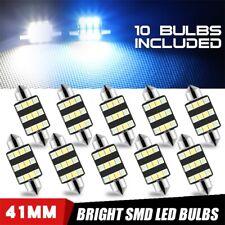 10Pcs 3030 41mm Car Interior Dome Festoon LED Light Bulbs White Blue Dual Color