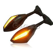 Black LED Mirrors Turn Signals Fit Yamaha YZF R1 R6 R6S SV650S FZR600 FZ1 FZ6