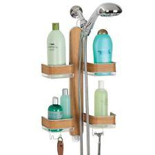 mDesign Bathroom Shower Caddy for Hand Held Hoses, Shampoo, Conditioner, Soap -