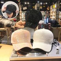 Glitter Baseball Cap Hat Hip-Hop Rhinestone Shining Heawear Fashion Women Casual