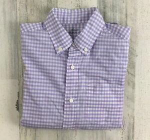 Crewcuts J Crew Purple Gingham Button Down Dress Shirt Long Sleeve Boys Sz 10