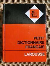 PETIT DICTIONNAIRE FRANCAIS Wörterbuch 1972