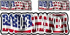 "3 Boilermaker American Flag 6"" Decal Pack Usa United States Hard Hat Sticker"