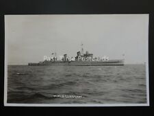 Naval WW2 H.M.S. GLASGOW light cruiser c1930's RP Postcard by Seward of Weymouth