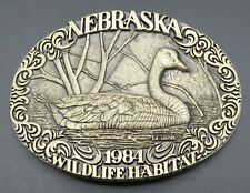 Canada Goose Bird Nebraska Wildlife Habitat Vintage Belt Buckle