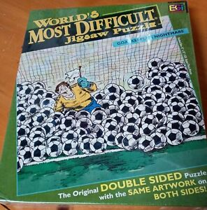 NEW! 2002 WORLD'S MOST DIFFICULT JIGSAW PUZZLE DoubleSided ARTWORK Buffalo Games