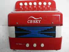CBSKY KIDS JUNIOR ACCORDION 7 KEYS MA102 RED MUSICAL INSTRUMENT EDUCATION