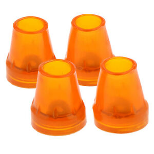 4pcs Anti Slip Rubber Replacement Tips For Cane Walking Stick Crutches 7/8
