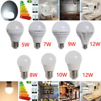 5/7/8/9/10/12W E26 LED Globe Light Bulb Cool Warm White Lamp 120V 3/6/12 pack US