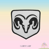 Dodge Car Brand Logo Motor Sport Ram Embroidered Iron On Patch Sew On Badge