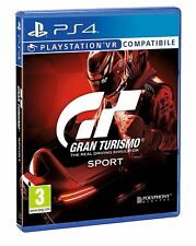 GT SPORT PS4 VIDEOGIOCO GRAN TURISMO 7 SPORT PS4 ITALIANO VR PLAY STATION 4 ITA
