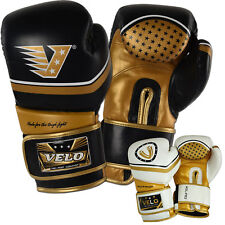 VELO Leather Boxing Gloves Sparring Punch Bag Muay Thai kickboxing Training