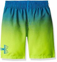 NWT UNDER ARMOUR Angle Drift Boys Volley Swim Trunks Blue/Yellow SELECT SIZE