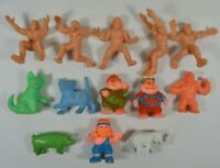 LOT of Vintage 1980's PVC & Plastic/Rubber Toys Wrestlers Monsters Cats Animals