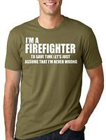 Firefighter T-shirt Git for Firefighter Funny Firefighter Tee Shirt Profession T