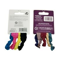 Goody Ouchless Ribbon Elastics Ponytail Bundle Colorful Lace - 9 pc