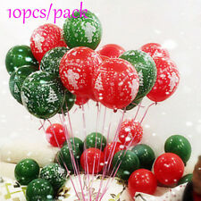 10Pcs Merry Christmas Printed Latex Round Balloons Santa Xmas Party Decors Hot