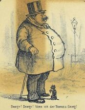 Miss A.E Carpenter Millinery & Dressmaking Fat Man Looking For Tiny Dog F89