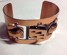 Modern Rame Designer Wide Copper Bracelet Mobiles Abstract Cuff Modernist
