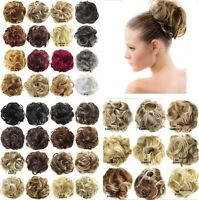 44Colors Pony Tail Women.Clip.On Hair Bun Hairpiece Extension Scrunchie Beauty