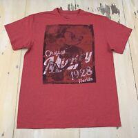 MICKEY MOUSE - Original 1928 Disney Florida Red T-shirt, Mens Adult LARGE