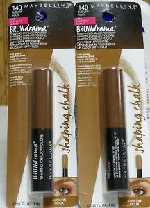 2 Maybelline Brow Drama Shaping Chalk Powder 140 Auburn (New)
