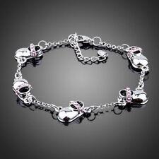 18K Gold GP Made With Swarovski Crystal Elements Shoes Chain Bangle Bracelet