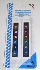 Set 2 Indicateurs Froid pour Réfrigérateur et Congélateur en plastique 18cm NEUF