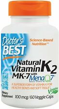 Natural Vitamin K2 MK-7 with MenaQ7, Doctor's Best, 60 veggie caps 100 mcg