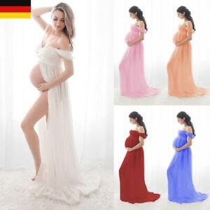 Schwangere Umstandskleid  Schwangerschaftskleid Bandeau Fotoshooting Maxikleid