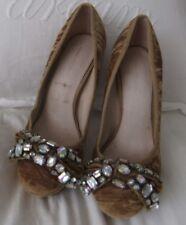 KG KURT GEIGER taille 5/38 Chloe Velours Plateforme Chaussures, Nœud Or £ 150.0