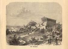Walhalla - Donaustauf - Holzstich bei Spamer 1880