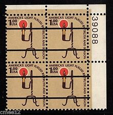 #1610v Rush Lamp Precancel Plate Block/4 Pl#39088 UR  - MNH