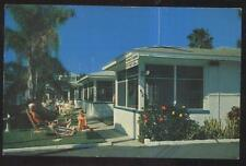 POSTCARD CLEARWATER BEACH FL/FLORIDA BLUE SKIES TOURIST MOTEL 1950'S