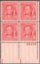 Scott # 860 - Us Plate Block Of 4 - James Fenimore Cooper - Mnh - 1940
