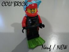 Lego City Figurine minifig - Scuba Diver - lot kg Cty 764 - NEW NEUF