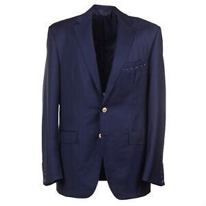 Oxxford 'Randolph' Navy Blue Wool Blazer with Brass Buttons 44R Sport Coat