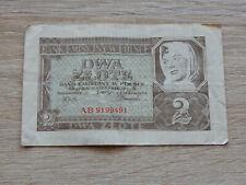 Polen: 2 Zlote Banknote von 1941!!!