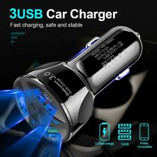 3 Way FAST CAR CHARGER Usb Port For Iphone Samsung  HTC Universal Socket Adapter