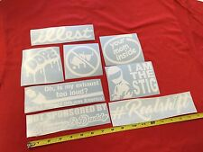 8 Sticker Pack L6 illest Dope I Am The Stig No Bull Sh*t decal jdm combo Bomb