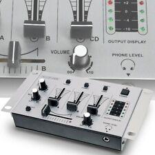 DJ-Mischpult Mixer 3 Kanäle PA Party Audio Musik Live Phono Crossfader Talkover