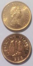 Falkland Island 1 penny 1992-1998 penguin 20mm Copper plated Steel Coin AU 1pcs