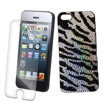IPhone 5 5S 5G léopard Bling strass diamant cristal diamonte cas UK