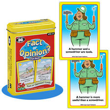 Fact or Opinion? Fun Deck Super Duper Flash Cards Literacy Skill Autism Speech