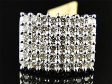 10k White Gold Mens Genuine Diamond Prong 6 Row Set Pinky Band Ring 3.0 Ct