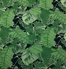 "BALLARD DESIGNS PALMAE GREEN IVORY LARGE PALM LEAVES FABRIC BY THE YARD 54"" W"