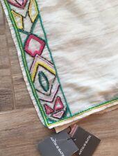 Nwt Anthropologie Antik Batik Beaded Scarf Wrap Cream Huge