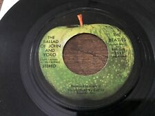 The Beatles The Ballad Of John and Yoko / Old Brown Shoe 45 Original   VG