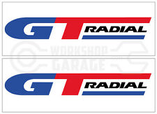 GT RADIAL TYRES   Large Stickers x 2